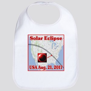 Solar Eclipse USA 2017 Baby Bib