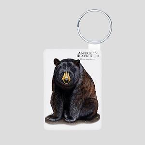 American Black Bear Aluminum Photo Keychain