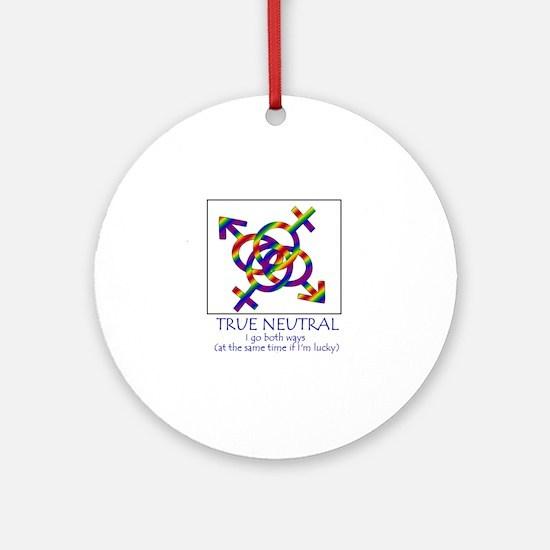 true neutral thongs Round Ornament