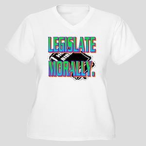 LEGISLATE MORALLY Women's Plus Size V-Neck T-Shirt