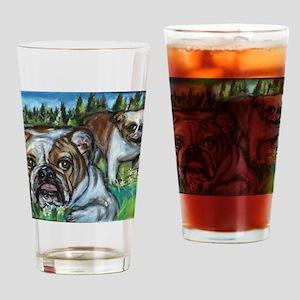 paintingconniebulldogs Drinking Glass