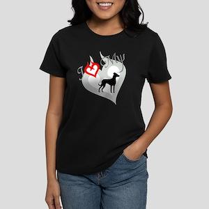 Louisiana Catahoula Leopard D Women's Dark T-Shirt