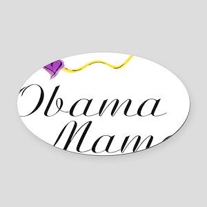 Obama Mama purple hearts and yello Oval Car Magnet