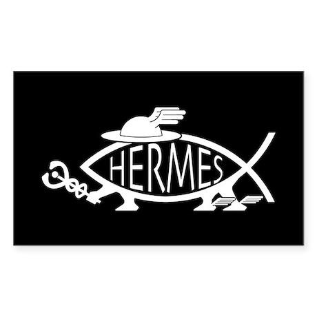 Hermes Fish Rectangle Sticker
