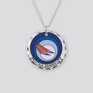 VA-93 Blue Blazers Necklace Circle Charm