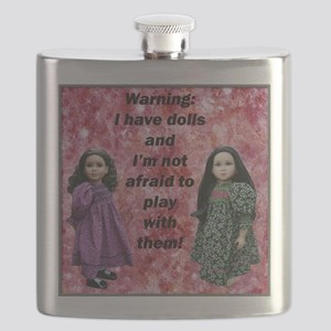10x10 tshirt Ive got dolls Flask