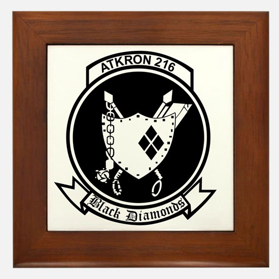va-216_Black Diamonds_patch Framed Tile