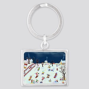 Maple Street Hill Landscape Keychain