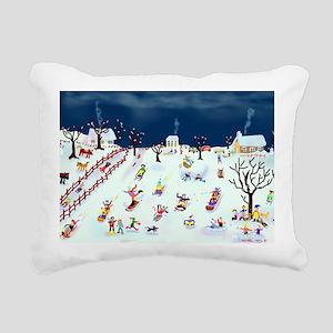 Maple Street Hill Rectangular Canvas Pillow