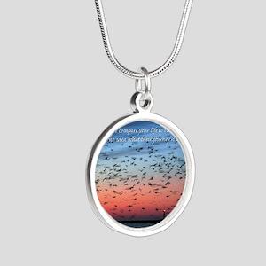 Lesson13FlightCard Silver Round Necklace