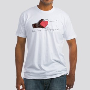 We Love Differences Men's Fitted T-Shirt