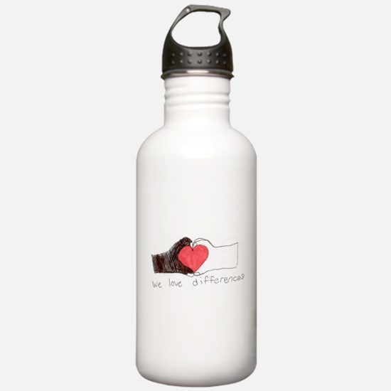We Love Differences Water Bottle
