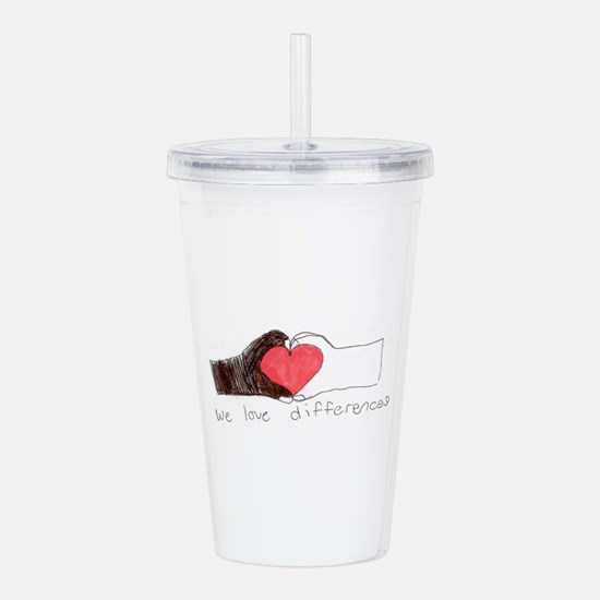 We Love Differences Acrylic Double-Wall Tumbler