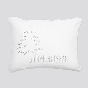 Trail Runner T Rectangular Canvas Pillow