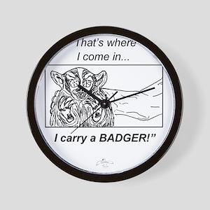 Carry_A-Badger_ME_flat Wall Clock