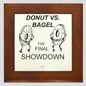 Donut_vs_Bagel_ME_flat Framed Tile