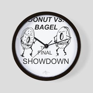 Donut_vs_Bagel_ME_flat Wall Clock