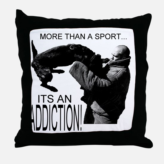 ADDICT K9 SHIRT Throw Pillow