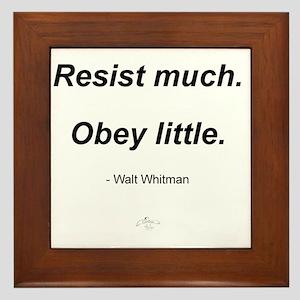 RESIST_MUCH_OBEY_LITTLE Framed Tile