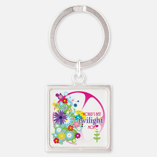 worlds best twilight mom pink Square Keychain
