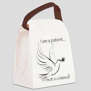 patient not criminal black Canvas Lunch Bag