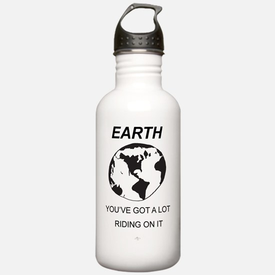Earth_T-shirt_ME_flat Water Bottle