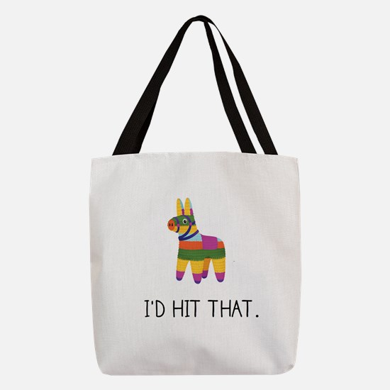 Hit That Polyester Tote Bag
