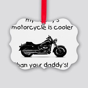 daddys motorcycle Picture Ornament