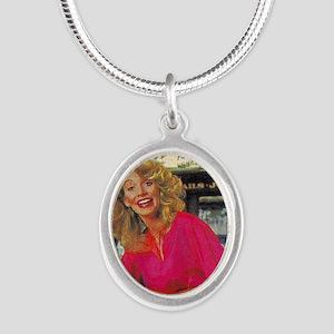 SwingSingle_1 Silver Oval Necklace