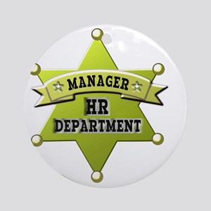 HR manager badge_1 Round Ornament