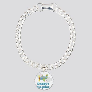 Daddys Co-pilot (boy) Charm Bracelet, One Charm