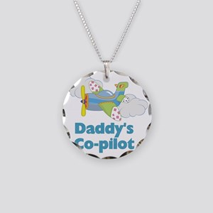 Daddys Co-pilot (boy) Necklace Circle Charm