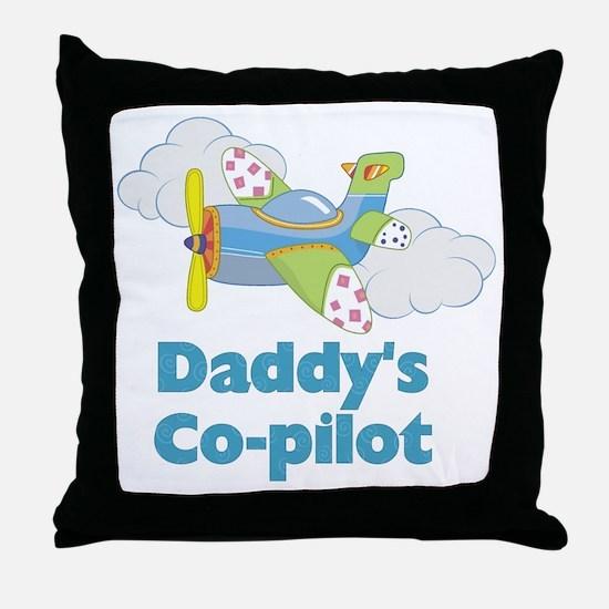 Daddys Co-pilot (boy) Throw Pillow