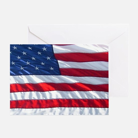 USA FLAG Patriotic Note Card (NoteCa Greeting Card