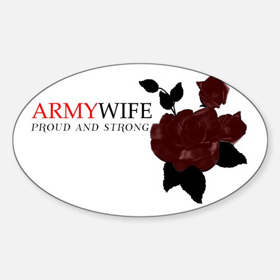 Proud and Strong Sticker (Oval)