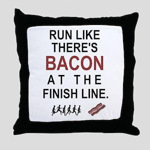 Will Run for Bacon Throw Pillow