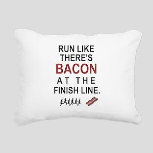 Will Run for Bacon Rectangular Canvas Pillow
