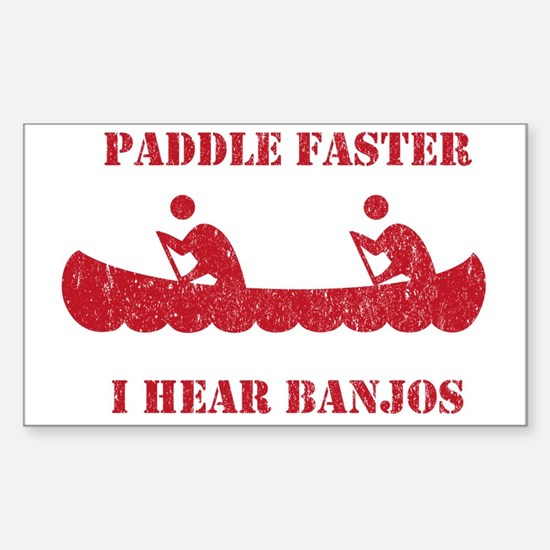 PaddleFaster Sticker (Rectangle)