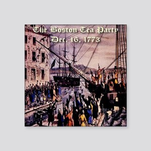 "thebostonteaparty_16dec1773 Square Sticker 3"" x 3"""