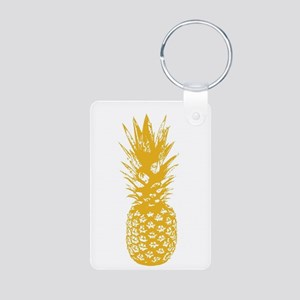 Pineapple Fuel Yellow Aluminum Photo Keychain