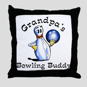 grandpas bowling buddy 2 Throw Pillow