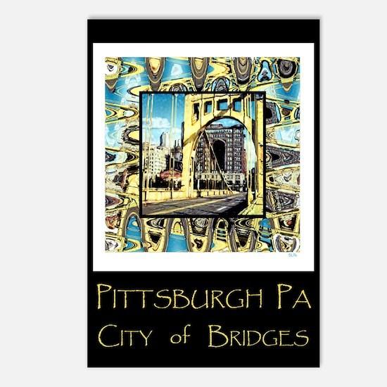 PITTSBURGH BRIDGES Postcards (Package of 8)