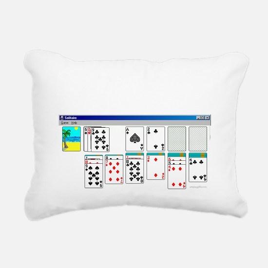 solitaire Rectangular Canvas Pillow