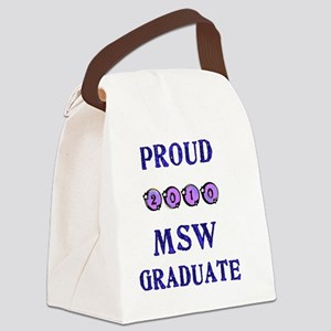 2010 msw graduate Canvas Lunch Bag
