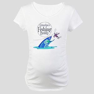 grandpas fishing buddy Maternity T-Shirt