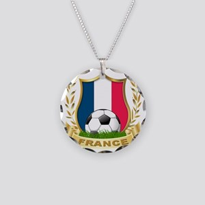 3-france Necklace Circle Charm