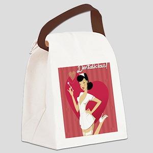 dentalicious2 Canvas Lunch Bag