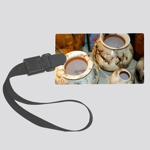 horsehair pottery Large Luggage Tag
