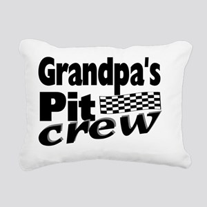 2-grandpas pit crew Rectangular Canvas Pillow