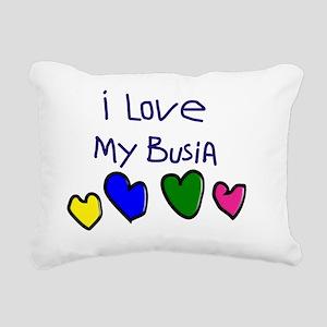 I Love My Busia Rectangular Canvas Pillow